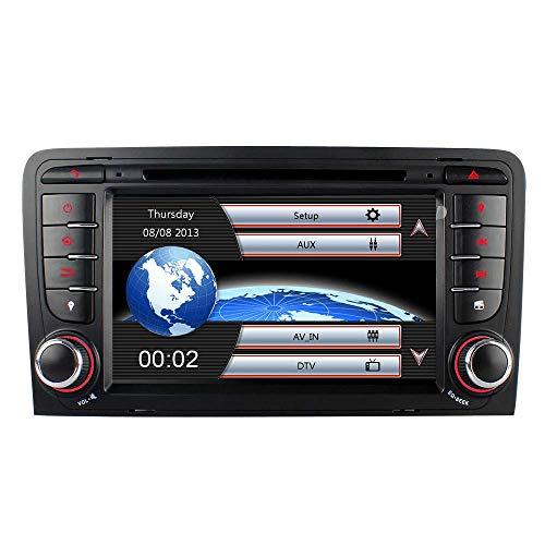 "Bilaterale Taste 7\"" AUTORADIO MIT 3G DVD GPS Navigation USB SD Bluetooth Autoradio CD Moniceiver+Bluetooth+ Dual Zone+Subwoofer+DAB+VMCD Für Audi A3 S3 RS3 8P 8V 8PA"