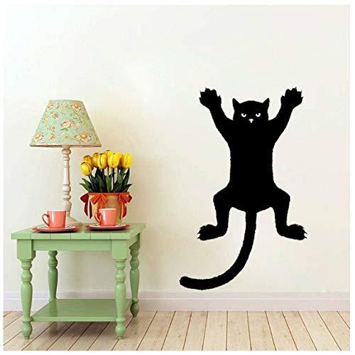 Katze an der Wand Silhouette Umriss Aufkleber Aufkleber Grafik PVC 31.6CM * 50CM