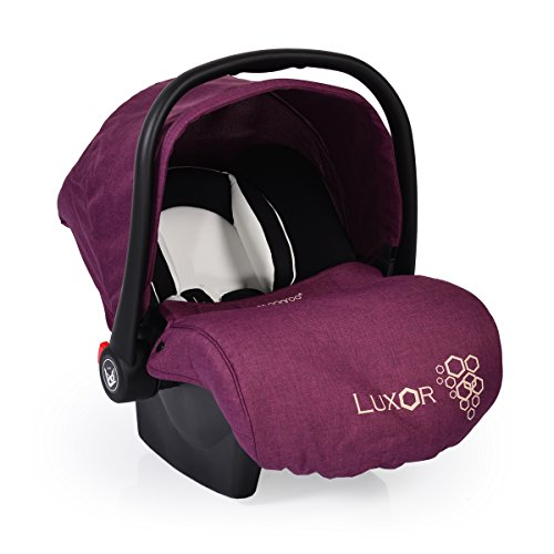 Preisvergleich Produktbild Babyschale, Kindersitz Luxor, Gruppe 0+ (0 - 13 kg), Sitzpolster, Fußabdeckung lila