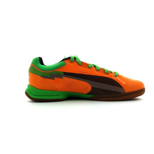 Puma  evoSPEED Indoor 1, Chaussures de handball mixte adulte Orange