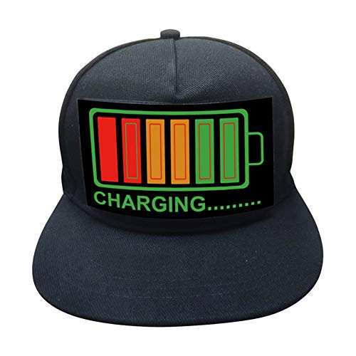 Artbro Baseball Cap DJ LED-Mütze mit abnehmbarem Bildschirm für Mann Frau Light up Sound Activated Hat (Light Up Bekleidung)