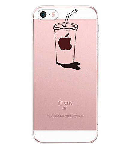 Vanki® Coque iPhone 5/5S/SE, TPU Souple Etui de Protection Silicone Case Soft Gel Cover Anti Rayure Anti Choc pour Iphone5/5S/SE 1