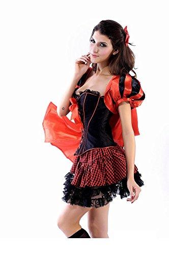 Neue Damen Rotkäppchen Wolf Märchen Kostüm Kleid Halloween Hen Night Party Größe UK L12EU 40 (Junggesellinnenabschied Kostüme Uk)