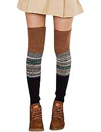 5d3a842321095 trada-Chaussettes Femmes dames au chaud hiver jambières en laine tricotés  chaussettes au crochet Leggings