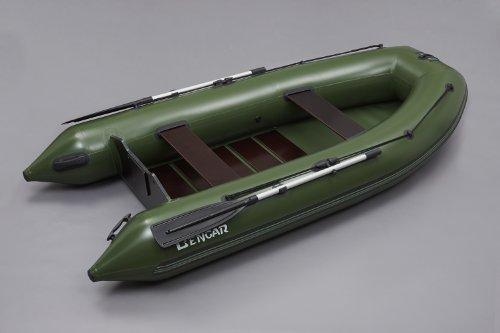 L-320 cm Schlauchboot Boot Angelboot (grün) mit Lattenboden Bengar Lotus