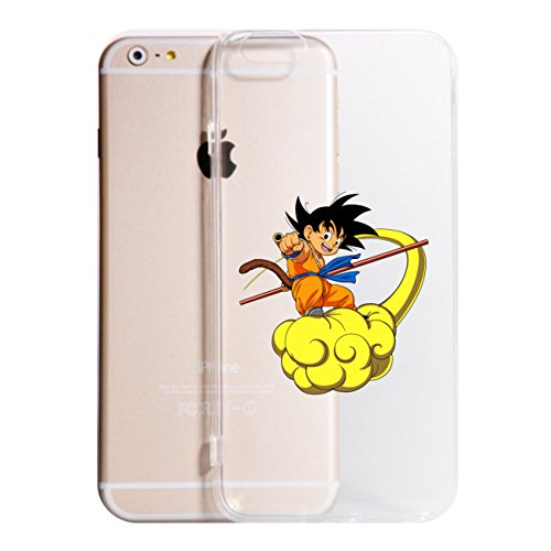 Cover iPhone XS - XR - XS Max - X - 8-8 Plus - 6-6 Plus - 6S - 6S Plus - 7-7 Plus - Dragonball Trasparente Vari Colori AntiGraffio Antiurto Case Custodia