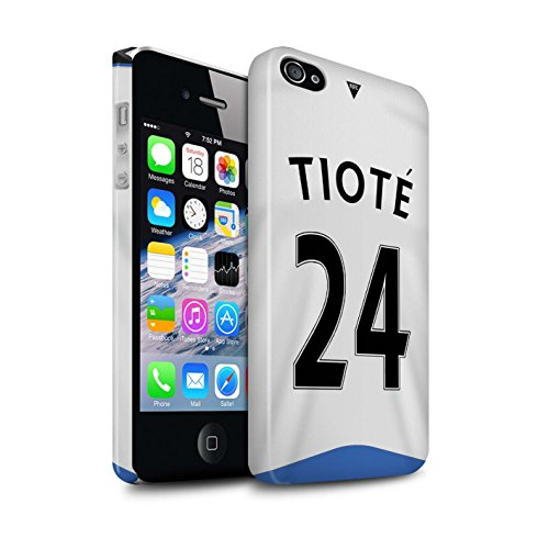 Offiziell Newcastle United FC Hülle / Glanz Snap-On Case für Apple iPhone 4/4S / Pack 29pcs Muster / NUFC Trikot Home 15/16 Kollektion Tioté