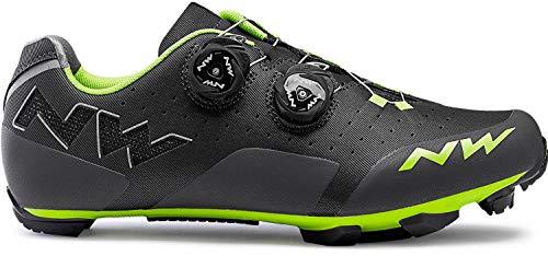 Northwave Rebel MTB Fahrrad Schuhe grau/grün 2019: Größe: 48
