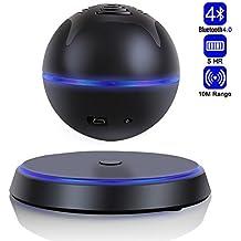 Altoparlante Bluetooth 4.0 Senza Fili Wireless Speaker Portatile Galleggiante Levitante per Smartphone Tablet PC laptop e Dispositivi Bluetooth Subwoofer 360 Gradi Rotation- Milool(Nero)