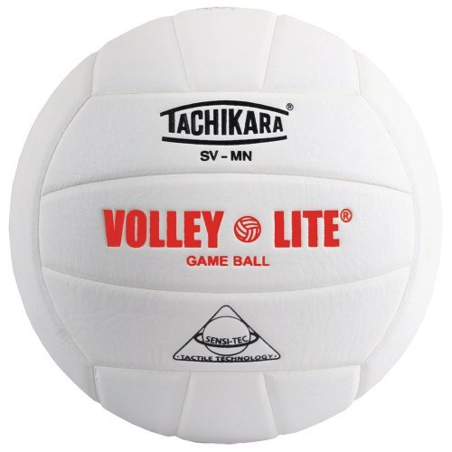 ey-Lite volleyball with Sensi-Tech cover, regulation size but lighter (white) by Tachikara ()