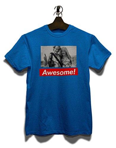 Awesome 53 T-Shirt Royal Blau