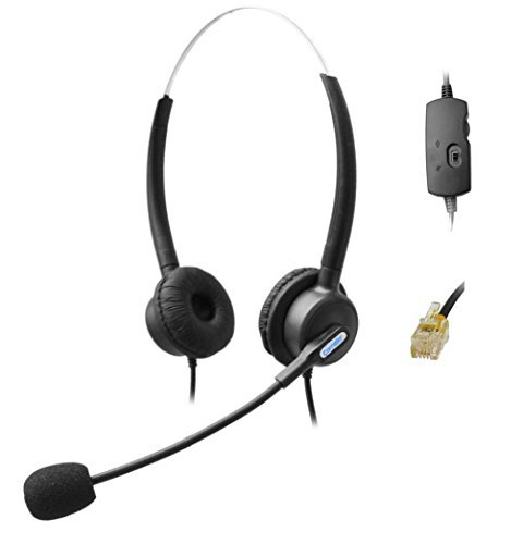 Comdio H203VGA Corded RJ Headset with Flexible Noise Canceling Mic + Volume Mute Control for Snom 320 870 Panasonic KX-T Series Avaya Cisco Grandstream Yealink T48G Huawei Office Telephone IP Phones  available at amazon for Rs.4259