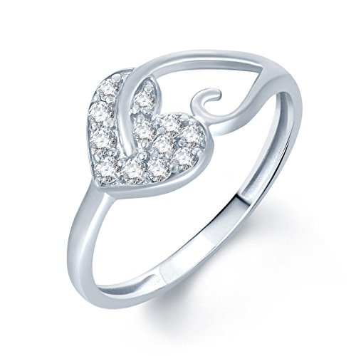 Meenaz Silver Diamond Rings For Girls And Women In American Diamond CZ Ring Jewellery For Women Fr172  available at amazon for Rs.128