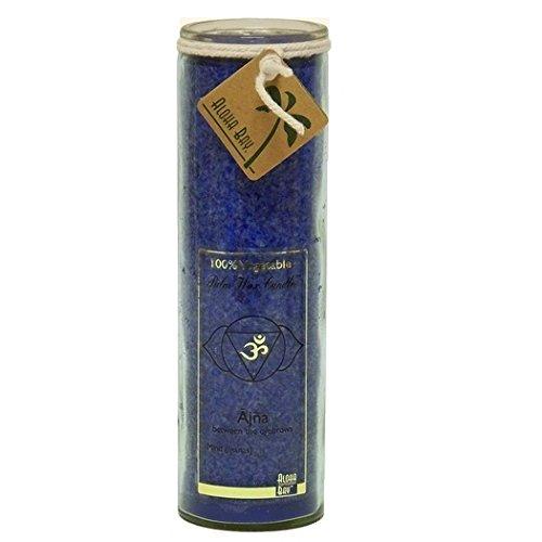 Aloha Bay Chakra geruchloses Glas abundanz Kerze, indigo (Jar Unscented Kerze)