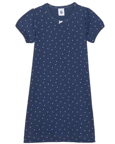 Petit Bateau -  Camicia da notte  - ragazza blu 5 anni