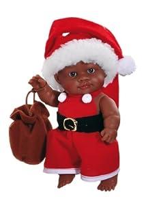 Paola Reina- Olmo, muñeco de Vinilo, Vestido en Papá Noel 22 cm (01125)