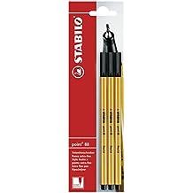 Stabilo B-14828-10 - Bolígrafo (trazo fino, 3 unidades), color negro