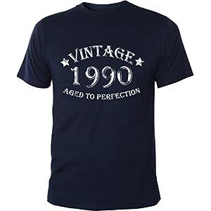 Mister Merchandise Witziges Herren Männer T-Shirt 24 25 Vintage 1990 Aged To Perfection Jahre Geburtstag Years , Größe: L, Farbe: Navy