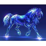 CYKEJISD Puzzle 1000 Pezzi Fai da Te Cavallo Fluorescente Animale Decorazione della Casa Bellissimo Regalo Classico Puzzle in Legno Giocattolo Casa