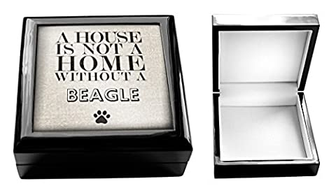A house is not a home without a Beagle Jewellery Box Dogs 16