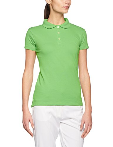 James & Nicholson Damen Poloshirt Ladies´ Elastic Piqué Polo, Grün (Lime-Green), 36 (Herstellergröße: M)