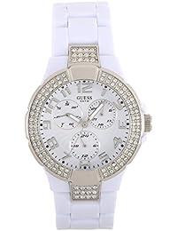 Guess - W13564L1 - Ladies Sport - Montre Femme - Quartz Analogique - Cadran Blanc - Bracelet Plastique Blanc