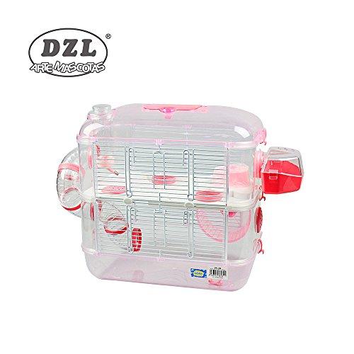 DZL Jaula para Hamster de plástico Duro, caseta Bebedero comedero Rueda Todo Incluido (1 Piso, 2 Piso, 3 Piso) (2 Piso, Persa)