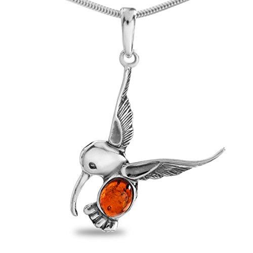 Kolibri Bernstein XL Anhänger Sterling Silber 925#160