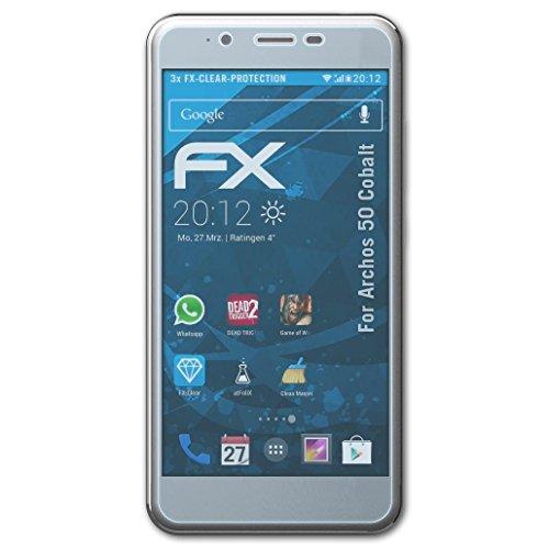 atFolix Schutzfolie kompatibel mit Archos 50 Cobalt Folie, ultraklare FX Displayschutzfolie (3X)