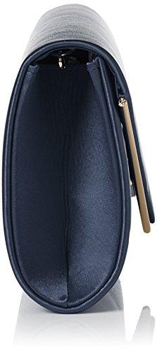 Swanky Swans - Kim Metallic Envelope Bag, Pochette da giorno Donna Blu (Navy)