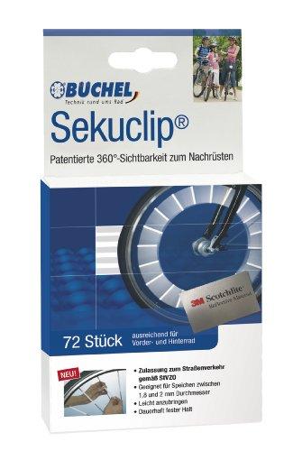 Büchel Reflektoren Speichenreflektoren Seku Clips 72er Verpackung, silber, 50103000