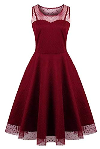 KILOLONE Damen Plus Size Elegant Kleider Spitzenkleid Cocktailkleid Rockabilly V-Ausschnitt (Plus Größe Damen Stiefel)