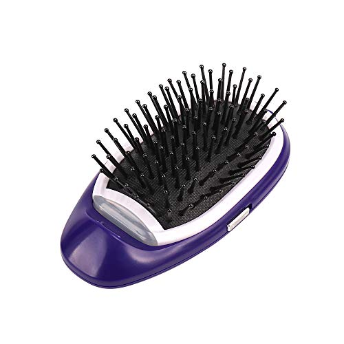 Elektrische Kamm Haarbürste, 12shage tragbare Negative Lonic Haarglätter Bürste Strecker (lila)
