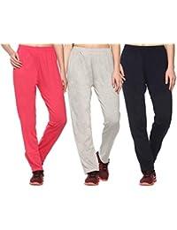SHAUN Women's Regular Fit Trackpants (Pack of 3)