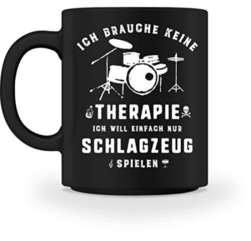 Schlagzeug spielen statt Therapie - Die Schlagzeug Geschenkidee ist erhältlich als Pullover, Hoodie, Schlagzeug Shirt, Musiker Tasse, Rucksack, Sweater für Damen, Herren und Kinder - Tasse (Musiker Rucksack)