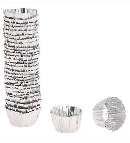 Alu Wachs Tassen / Schutzhülse / Befestigungshilfe für Stabkerzen in Kerzenständern