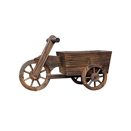 ZHDC® Pot de fleurs Jardinage flotteur à trois roues Carbure Protection du bois Bac à fleurs Stable fort espace de sauvegarde (Couleur : #2)