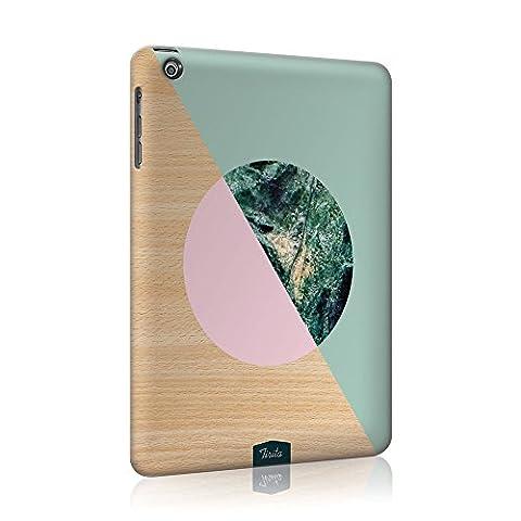 tirita Coque rigide en plastique pour iPad coque tendance design mignon les aspect marbre en bois