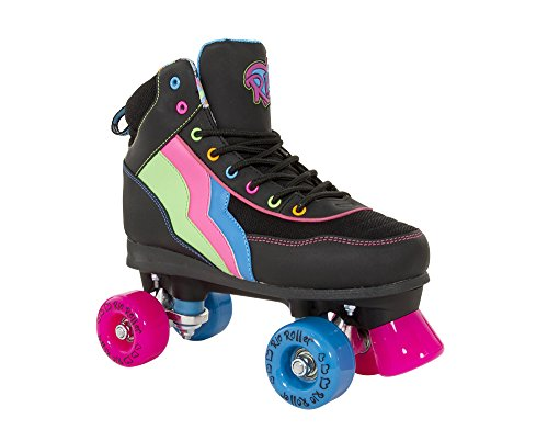 Rio Roller Classic II Passion Quads Rollschuhe Disco Roller schwarz-pink passion, 42