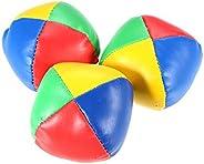 Eookall 3Pcs Mini Juggling Ball Set Classic Bean Bag Pillow Balls Kids Soft Stress Relief Toy Gift