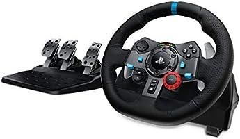 Logitech G29 Driving Force Gaming racestuur, tweemotor, Force Feedback, 900 graden stuurbereik, lederen stuurwiel,...