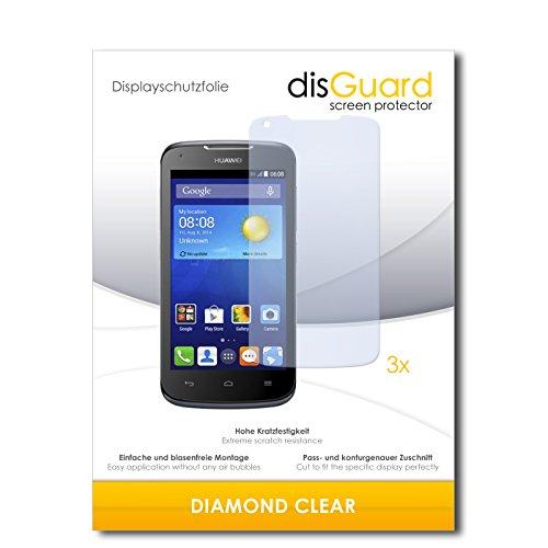 3 x disGuard® Schutzfolie Huawei Ascend Y540 Bildschirmschutz Folie