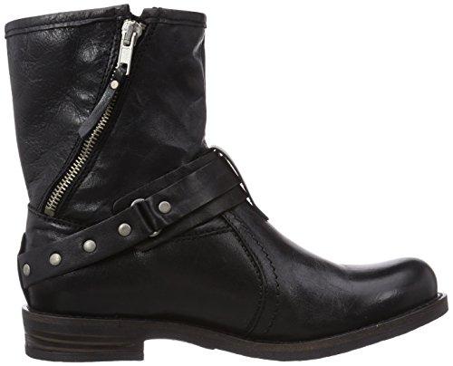 Buffalo London ES 30487 GARDA SUEDE, Stivali da infilare, altezza metà polpaccio Donna Nero (Schwarz (PRETO 36))