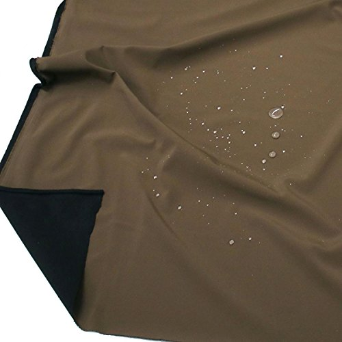 TOLKO Outdoor Softshell-Stoff | Wasserdicht Elastisch Atmungsaktiv | Allwetterstoff für Jacke Hose | 140cm breit Meterware (Dunkel Braun)