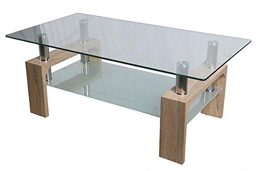 2. HomeSouth - Mesa de centro con cristal templado