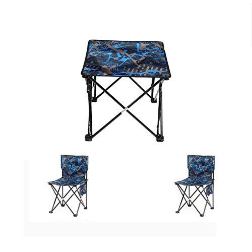 YUWJ Camping hocker Falten tragbare licht Camp hocker im freien billig tragbaren klappstuhl geeignet für Strand Grill Reise Picknick,Blue,threepiece