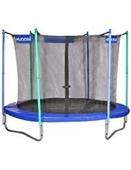 HUDORA Fitness Trampolin 250 cm - Gartentrampolin mit Sicherheitsnetz - 65208