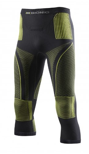 X-Bionic Erwachsene Funktionsbekleidung Man Acc Evo UW Pants Medium, Charcoal/Yellow, L/XL, I020241 (Herren-base Layer Bottom)