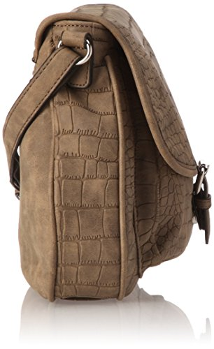 GERRY WEBERStay Flap Bag H, M - Borsa a tracolla Donna Braun (mud 752)