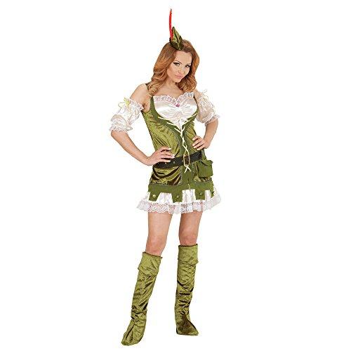 Preisvergleich Produktbild WIDMANN 01442 - Erwachsenenkostüm Robin aus dem Wald,  Kleid,  Gürtel mit Tasche,  Schuhüberzieher und Hut,  grün
